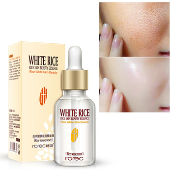 15ml White Rice Whitening Serum Face Moisturizing Cream Anti Wrinkle Anti Aging Face Fine Lines Acne Treatment Skin Care Essence недорого