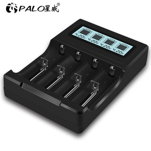 Image 5 - PALO écran LCD USB 14500 18650 chargeur de batterie 3.7V Li ion chargeur de batterie Rechargeable pour 16350 18500 18650 14500