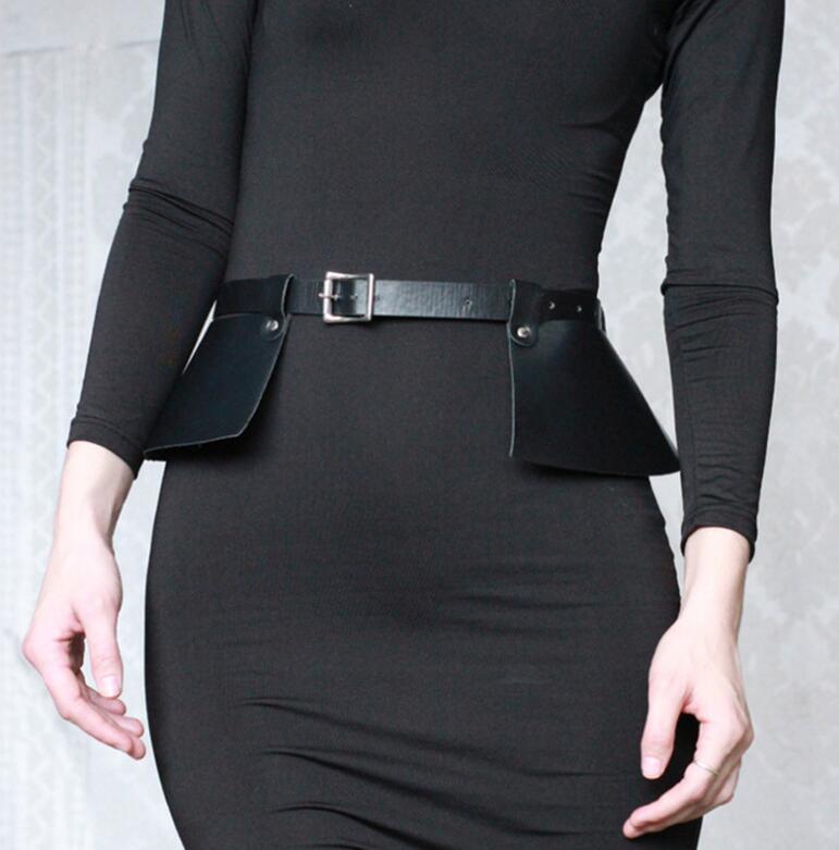 Women's Runway Fashion PU Leather Cummerbunds Female Dress Corsets Waistband Belts Decoration Wide Belt R2233