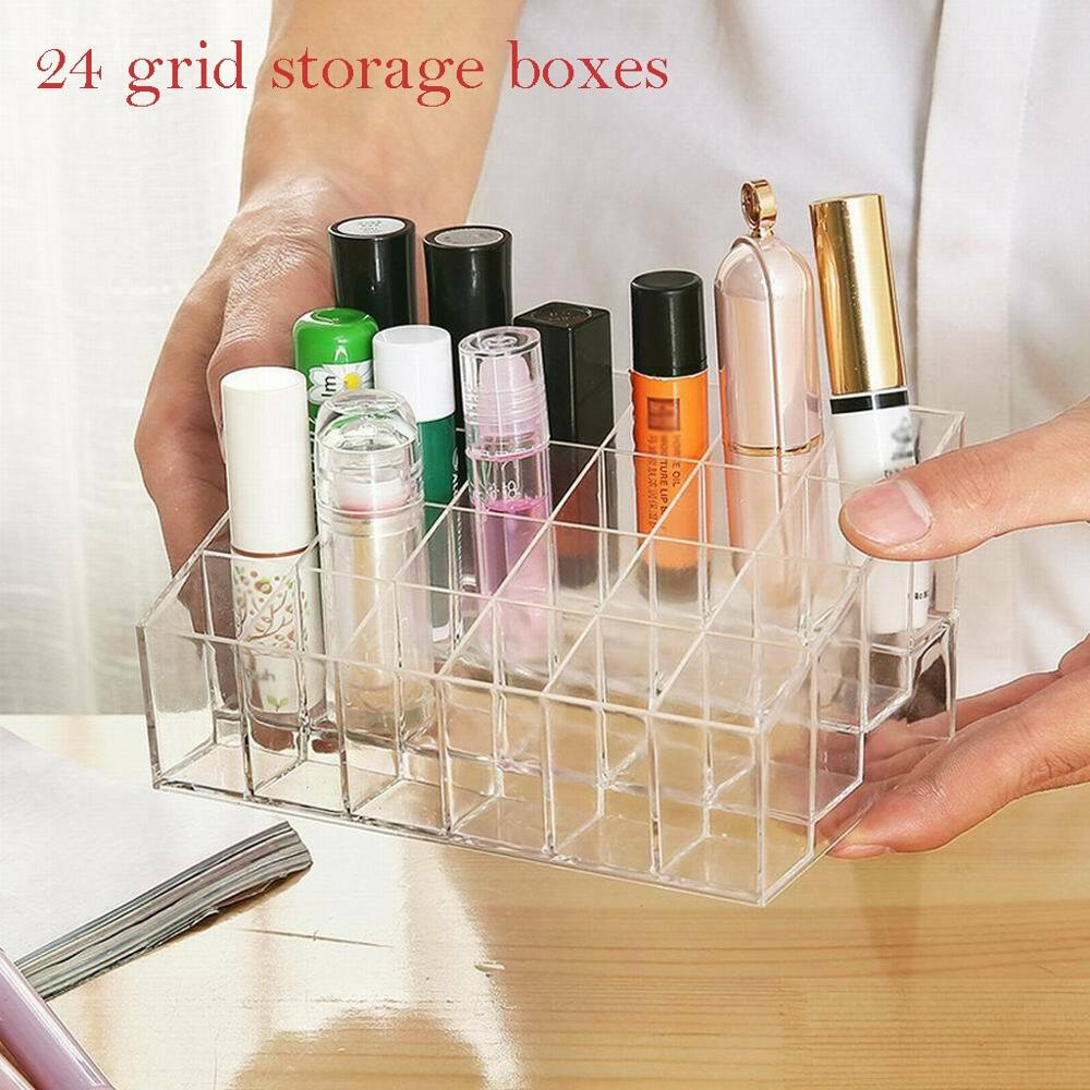 Desktop Sundries Storage Box Makeup Organizer For Cosmetic Make Up Brush Storage Case Home Office Bathroom Storage Box