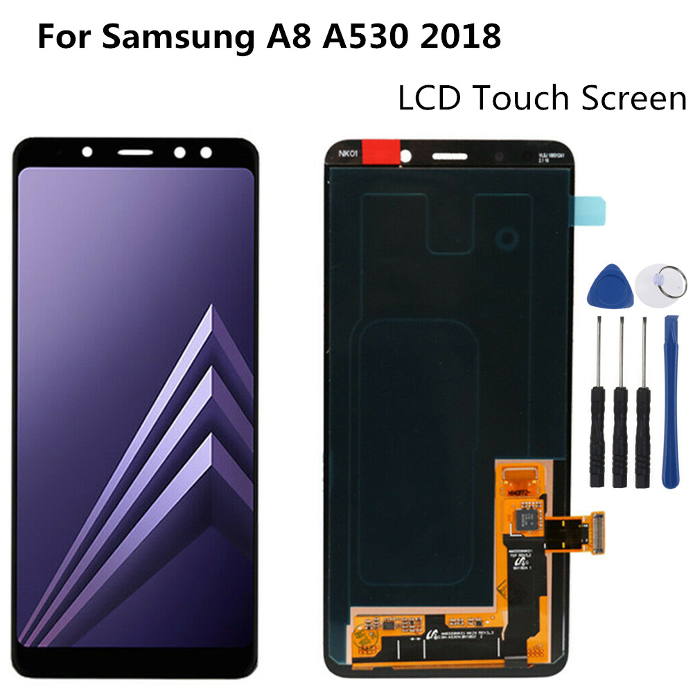 <font><b>Display</b></font> Complete For SAMSUNG Galaxy <font><b>A8</b></font> <font><b>2018</b></font> A530 LCD Touch Digitizer Assembly Replacement <font><b>A8</b></font> <font><b>2018</b></font> LCD image