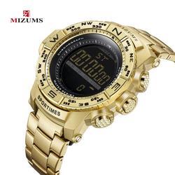 MIZUMS wojskowe sportowe wodoodporne zegarki męskie Relogio Masculino Top marka ekskluzywny zegarek elektroniczny LED cyfrowy zegarek chronograf|Zegarki kwarcowe|Zegarki -