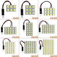 1X Led Панель 6/9/12/15/18/24/30/36/48 SMD 5050 T10 Ba9s c5w адаптер Festoon Dome чтение светильник аксессуары для авто двигатель DC12V