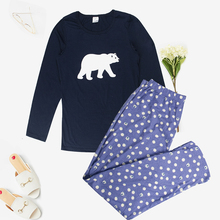 Mukatu pijamas para mulheres algodão pijamas 100% algodão conjunto de pijama feminino outono impresso bonito 2 peça conjunto pijamas conjuntos