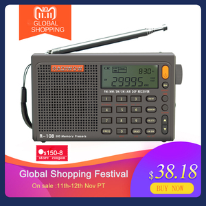 Image 1 - Radiwow SIHUADON R 108 FM Stereo Digital Portable Radio Sound Alarm Function Display Clock Temperature Speaker as Parent gift