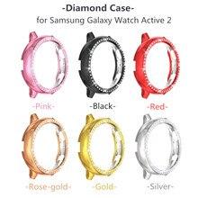 Бриллиантовые блестящие Чехлы для Samsung Galaxy Watch Active 2 40 мм 44 мм, прочный тонкий чехол из поликарбоната, Модный чехол бампер