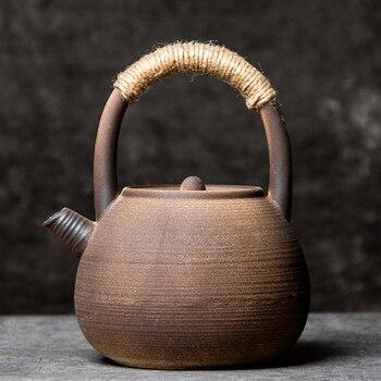 LUWU big capacity ceramic teapot boiling kettle traditional tea pot