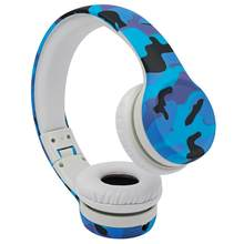 Fones de ouvido para crianças, volume hisônico limitado com porta de compartilhamento camuflagem design fone de ouvido para crianças para meninos