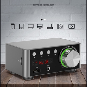 Image 1 - TPA3116 50W *2 Class D Stereo Bluetooth 5.0 Digital Power Amplifier TF 3.5mm USB Input Hifi Audio Home AMP MP3 For Mobile