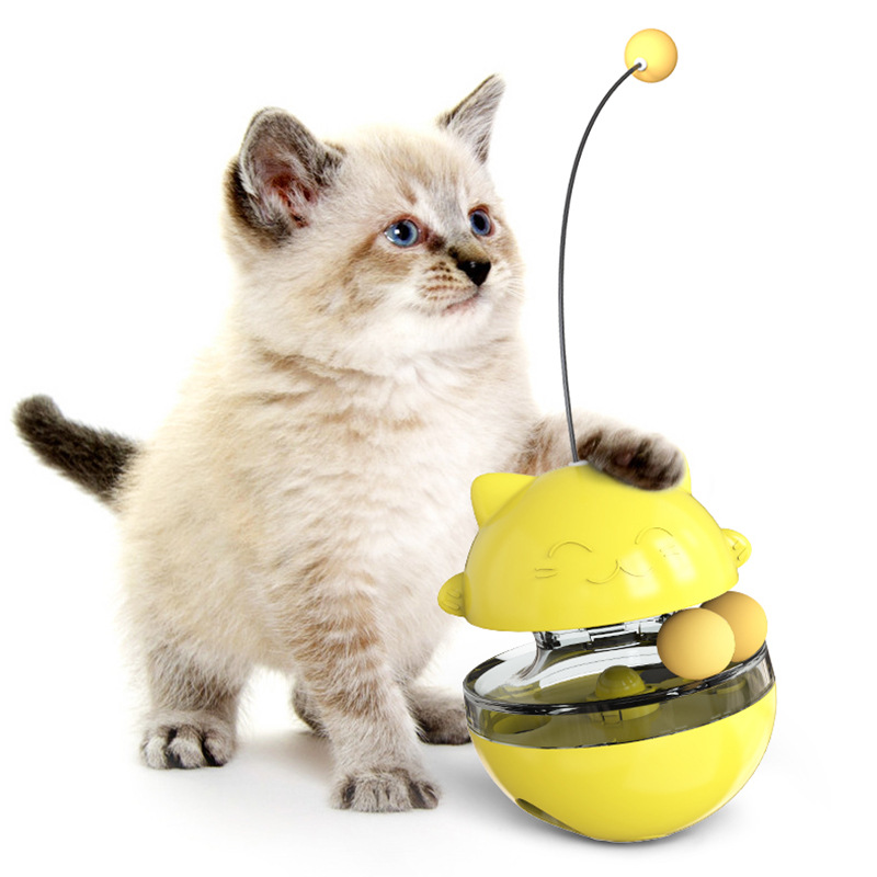 FUNNY PET TOY TUMBLER LEAK FOOD TOY CAT AND DOG LEAK FOOD BALL LUCKY CAT TOY TRAINING MOLARS TO RELIEVE <font><b>BOREDOM</b></font> image