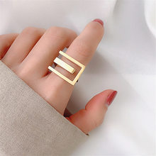 2020 nova personalidade feminino anel de junta simples à moda cor ouro anéis para índice dedo jóias presente legal