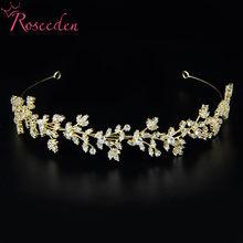 Zirconia Tiaras Crowns CZ Women Brides Headpieces Wedding Hair Accessories RE4127