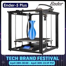 CREALITY-Máquina de imprimir 3D Ender-5 Plus para interiores, impresora de alta precisión, autonivelación automática doble del eje Z, función de apagado y reanudar, de gran tamaño