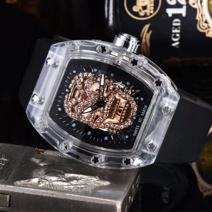 2020 Limited Top Brand RM 1: 1 Same Watch Skull Shape Richard Men's Sports Watches Luxury Brands Reloj De Mujer Water Resistant