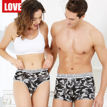Bamboo Boxer Couple Underwear Shorts Men Calecon Ethika Mens Homme Sexy Panties Couples Underpants