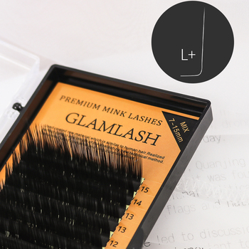 GLAMLASH L/L+/LC/LD/M/N Curl 7~15mm MIX 16rows/case Mink Eyelash Extension,L Individual Eyelashes,L Lashes,L False Eyelashes professional shine curl от l oreal