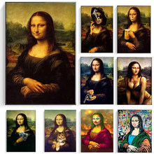 All Kinds of Funny Mona Lisa Abstract Graffiti Posters and Prints Canvas Paintings Wall Art Pictures for Living Room Decor