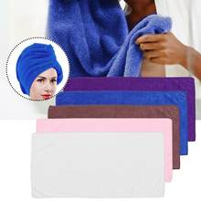 Kıvırcık saç güzellik Salon havlusu mikrofiber düz renk kalın banyo süper emici çabuk kuruyan saç kuru kap salonu aksesuarı