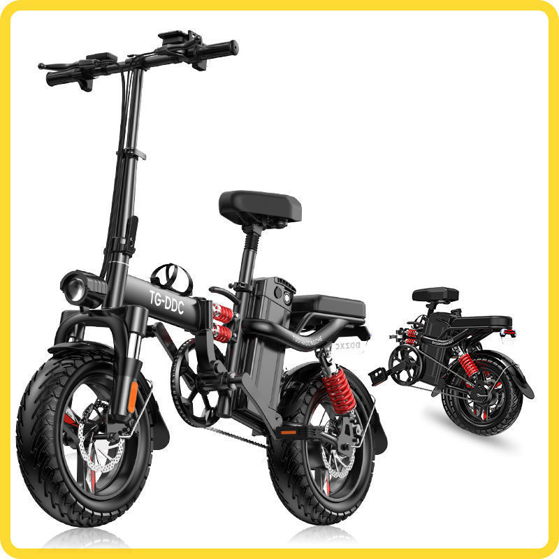 Folding electric BIKE adult battery car small electric bicycle lithium battery driving scooter electric bicycle