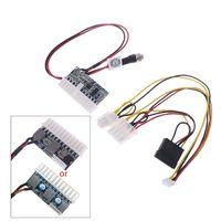 Dc 12 v 160 w 24 pinos atx interruptor psu carro auto mini itx fonte de alimentação módulo cabo dropship