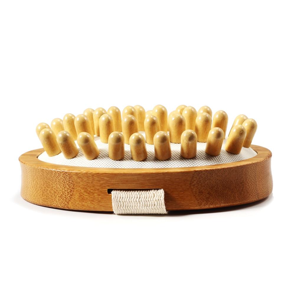 -OEM Moso Bamboo Massage Brush Shu Meridians Body Maintenance Brush BODY Brush Non-Handle Non-Logo