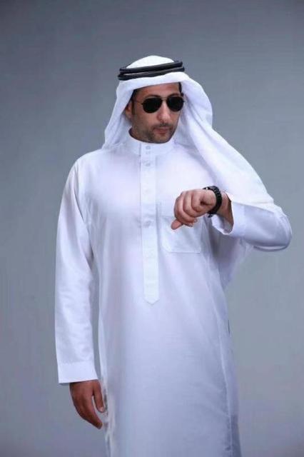 Abbigliamento Islamico Lunghezza Uomini a Maniche Lunghe Sciolto Uomini Musulmani Arabia Saudita Pakistan Kurta Musulmano Costumi Musulmano Abito Caftano Thobe