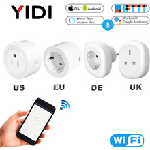 UK EU US Wifi Smart Socket Plug Electric Wall Gsm Power Socket Plugs Outlet Timer Voice Tuya Remote Control Smart Home цена