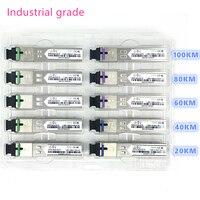 Categoria industrial do módulo da fibra ótica do sc sfp-40 celsius + 80 celsius 1.25g20/40/60/80/100 km 1310/1490/1550nm módulo ótico compatível