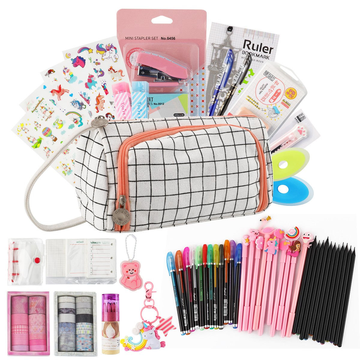 180pcs In 1 Stationery Gift Set With Erasable Gel Pen And School Tools Back To School Shopping List Set By Kevin&sasa Crafts