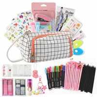 Kevin & sasa Crafts-Juego de papelería con bolígrafo de Gel borrable, material escolar, lista de compras, 180 Uds. En 1