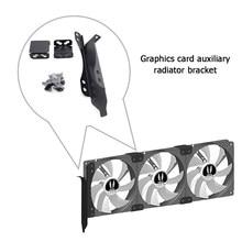 Soporte de estante de acero inoxidable para tarjeta gráfica de escritorio, electrochapado, pintura antioxidante, ranura PCI, doble ventilador, 90mm, 120mm