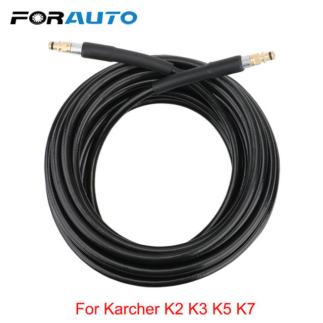 FORAUTO 6~15 meters High Pressure Washer Hose Pipe Cord Car Washer Water Cleaning Extension Hose Water Hose For Karcher K series