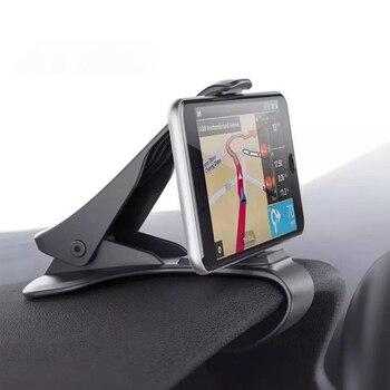 Soporte Universal de teléfono para coche GPS navegación tablero de instrumentos soporte de teléfono para pinza de teléfono móvil sostenedor plegable soporte de montaje