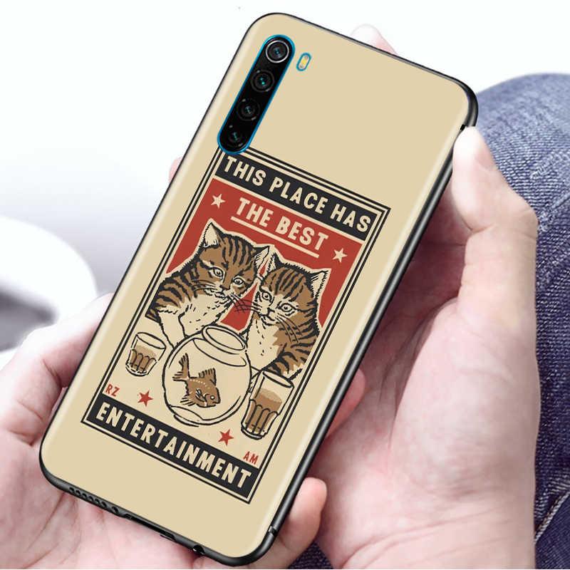 Caso caldo per la Nota Redmi 9S 9 Pro 9 India Prime 9A 9C Nota 8 8T 7 8 8A 7 7A 6A Molle Del Telefono Antiurto Borsette Nuovo Coque Cartoni Animati Gatto
