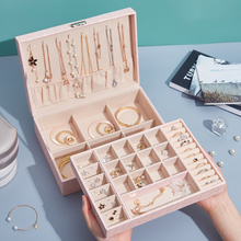 2021 Jewelry Box New High Capacity Jewelry Storage Box Necklace Earrings Rings Bracelets Packaging Display Casket Women Gift