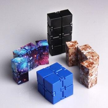 Cube infini Mini jouet doigt EDC anxiété soulagement du Stress Cube blocs enfants enfants jouets drôles meilleur cadeau de noël