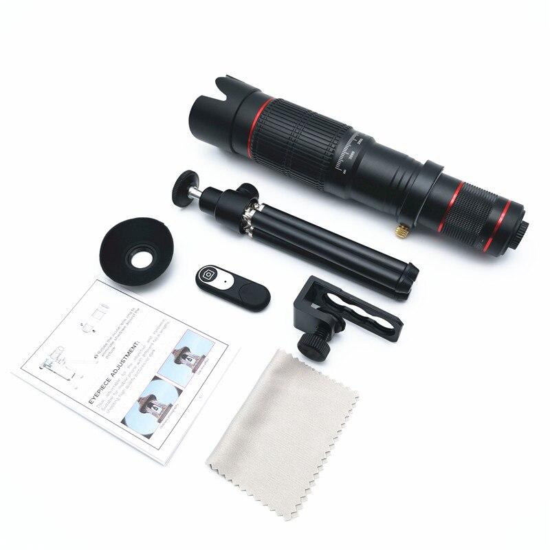 HD 36x Zoom Óptico de 20x Lente Do Telescópio Câmera Com Clip Para iPhone/Telefone Universal lente DSLR Universal Produto Móvel telefone