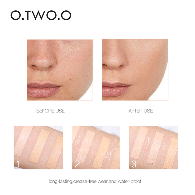 O.TWO.O Face Foundation Stick Makeup Matte Effect 6 Color Waterproof Long Lasting Concealer Face Contour Cosmetic 2