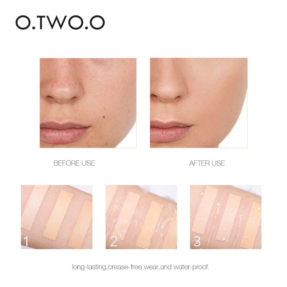 Image 3 - O.TWO.O Rosto Vara Fundação Maquiagem Efeito Matte 6 Cor À Prova  D Água de Longa Duração Corretivo Rosto Contorno CosméticosBase p/  rosto