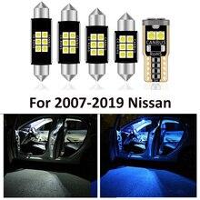 13Pcs Canbus ไฟย้อนกลับสำหรับ Nissan สำหรับ Qashqai J10 J11 2007 2019 LED ใบอนุญาตโคมไฟ + ภายในหลังคาแผนที่โดมหลอดไฟ