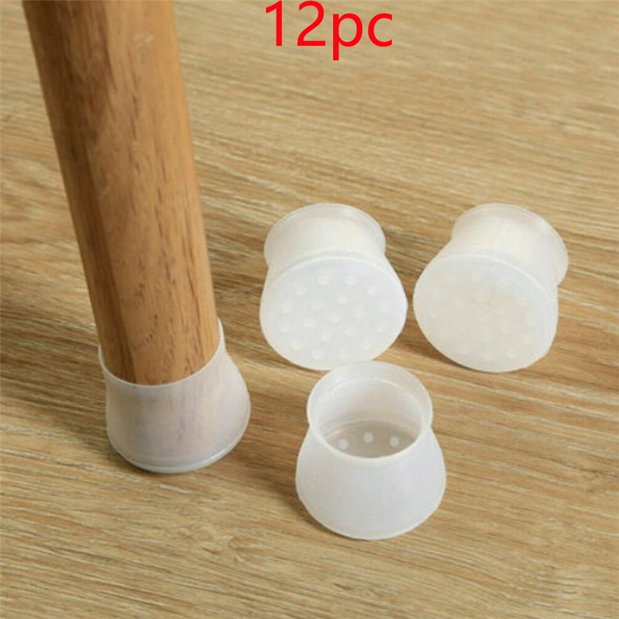 New 12pc Silicone Furniture Leg Protection Cover Home Decor Chair Table Foot Cover Protector Feet Pad Floor Protector D31#40