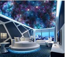 Fantasy universe starry living room bedroom sky ceiling zenith mural 3d ceiling murals wallpaper
