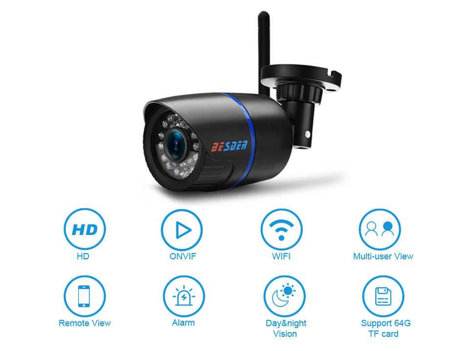 10 Cái Thông Minh Besder Yoosee Ip Camera WIFI 720P ONVIF Không Dây Có Dây P2P Camera Quan Sát Viên Đạn Camera Ngoài Trời TF khe Cắm Thẻ Nhớ Tối Đa 64G