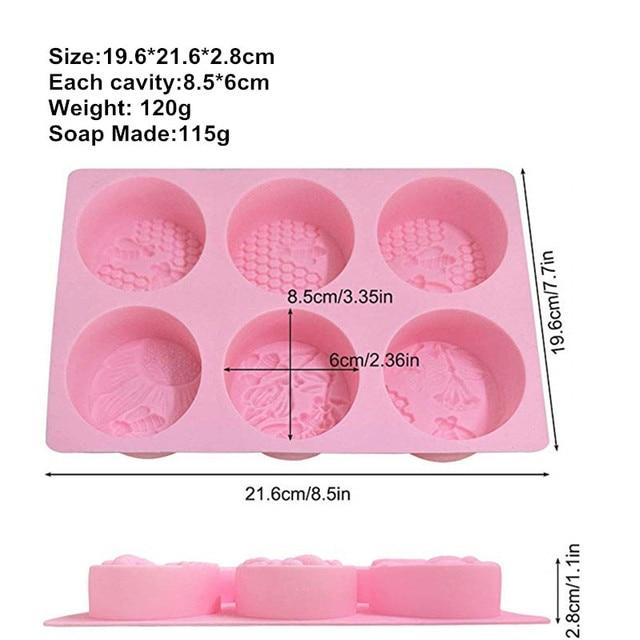 6 Cavity Soap Molds Silica Gel Bee Shape Handmade Soap Mold Portable Unique Soap Making Tools