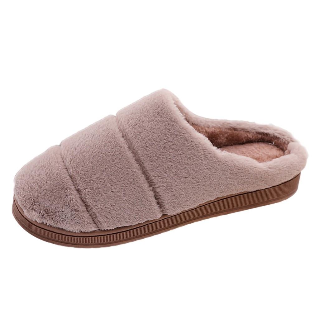 He02645f5a7d34cfebe1bf224f94fb76aX Pantufa masculina e feminina, chinelo de pelo e listrado para casa, inverno 2020 sapatos pantufa