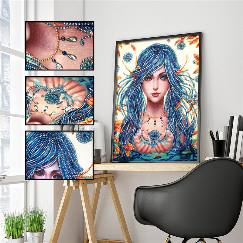 5D DIY Diamond Painting Special Shaped Beauty Embroidery Sticker Rhinestone Decoration