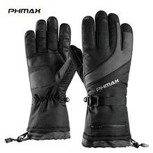 Phmax冬スキー手袋男性女性サーマルフリーススノーボード手袋タッチスクリーン防水暖かい手袋スキースケート乗馬