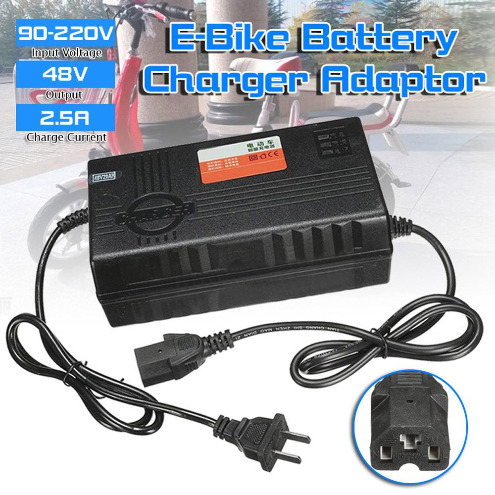 1 x <font><b>48V</b></font> E-Bike Battery Charger <font><b>Adaptor</b></font> for Electric Car E-Bike Scooter Bike 2.5A Battery Charger image