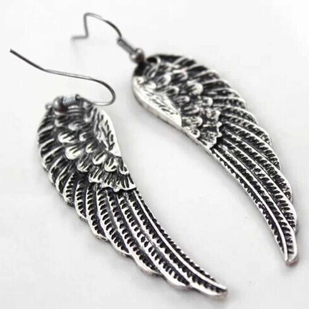 Hot Sale European And American Popular Retro Angel Wings Earrings Exaggerated Earrings 2019 Dropshipping