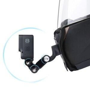 Image 3 - Mũ Bảo Hiểm Xe Máy Cằm Giá Đứng Giá Đỡ Cho GoPro Hero 8 7 6 5 4 3 Xiaomi Yi Máy Camera Thể Thao full Mặt Đựng Phụ Kiện